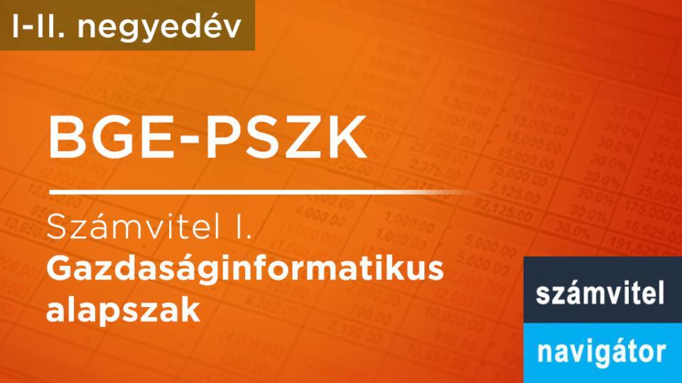 BGE PSZK: Számvitel 1 - 2. negyedév