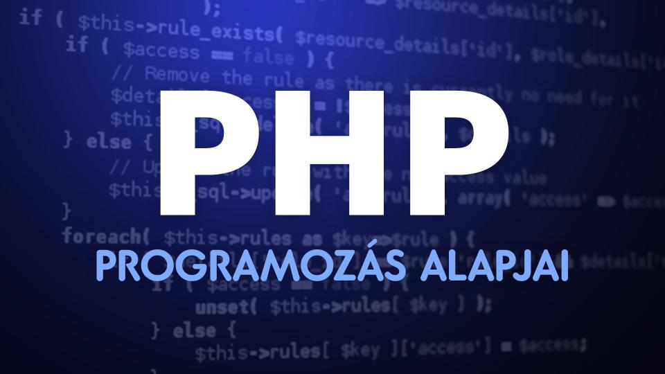 A PHP-programozás alapjai