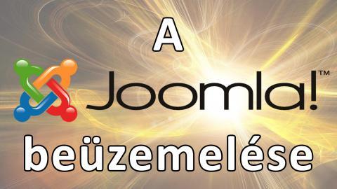 A Joomla 3 beüzemelése
