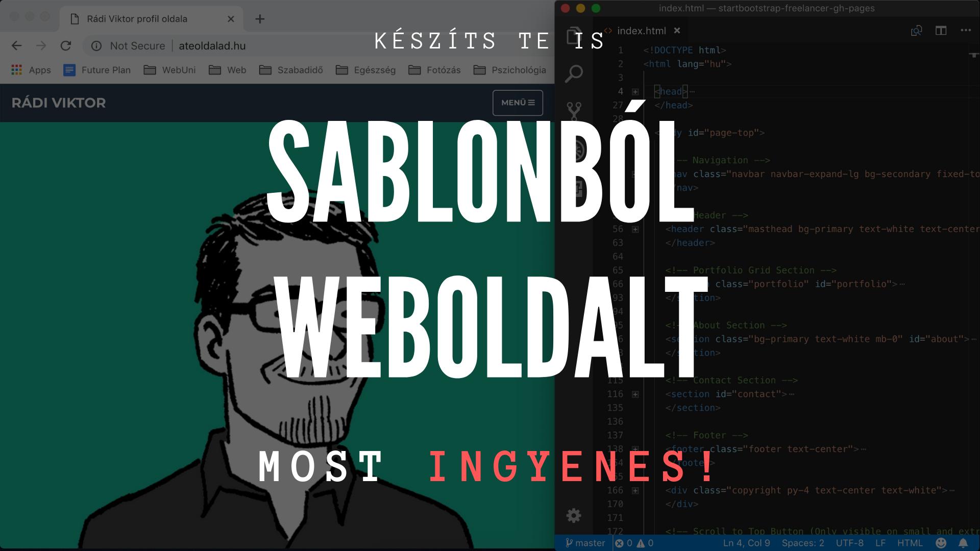 Weboldalkészítés HTML (Bootstrap 4) sablonból